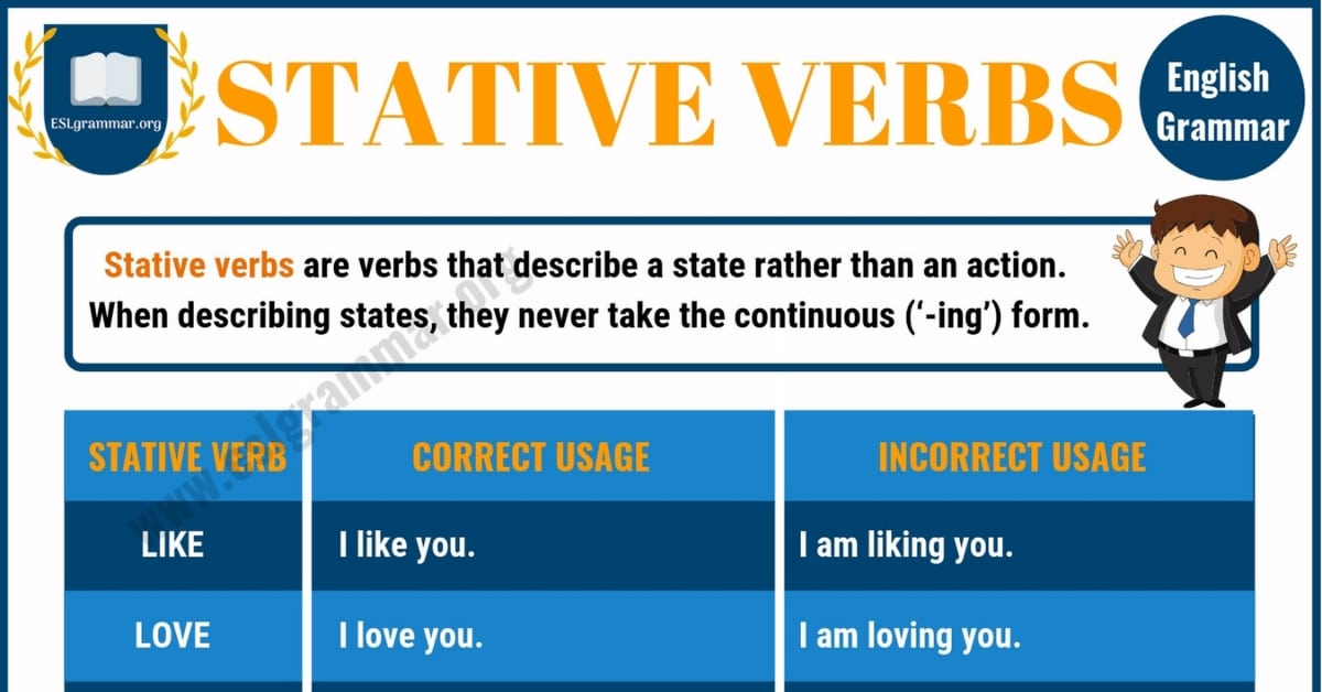 Stative Verbs: Definition and Useful Examples in English 1