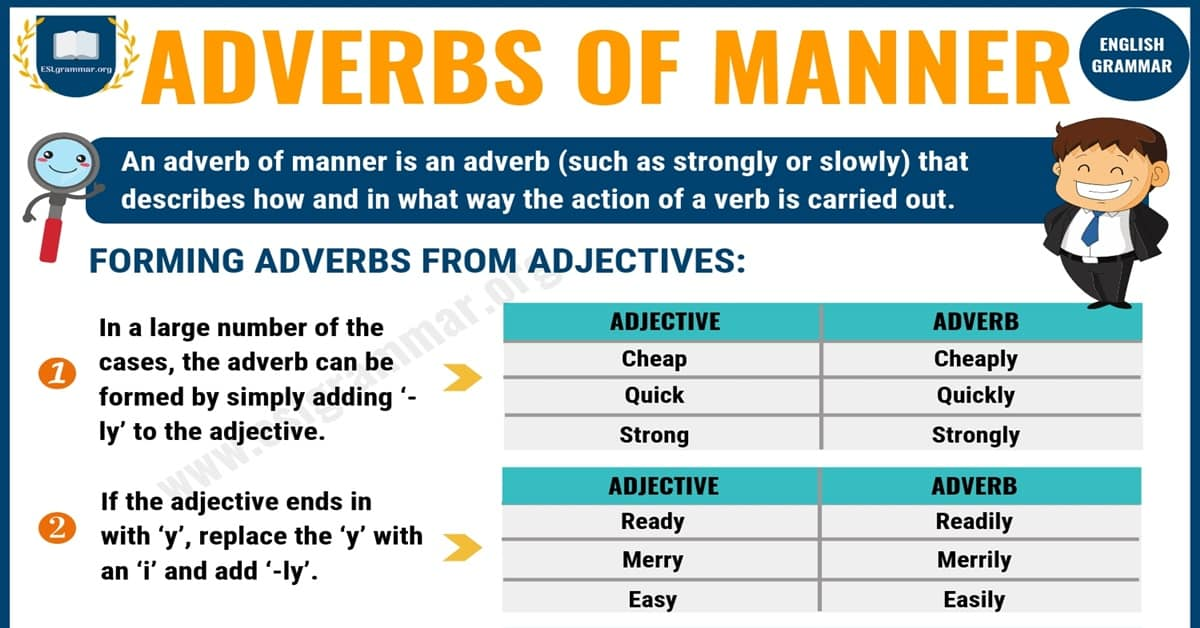 Adverbs of Manner: Definition, Rules & Examples 7