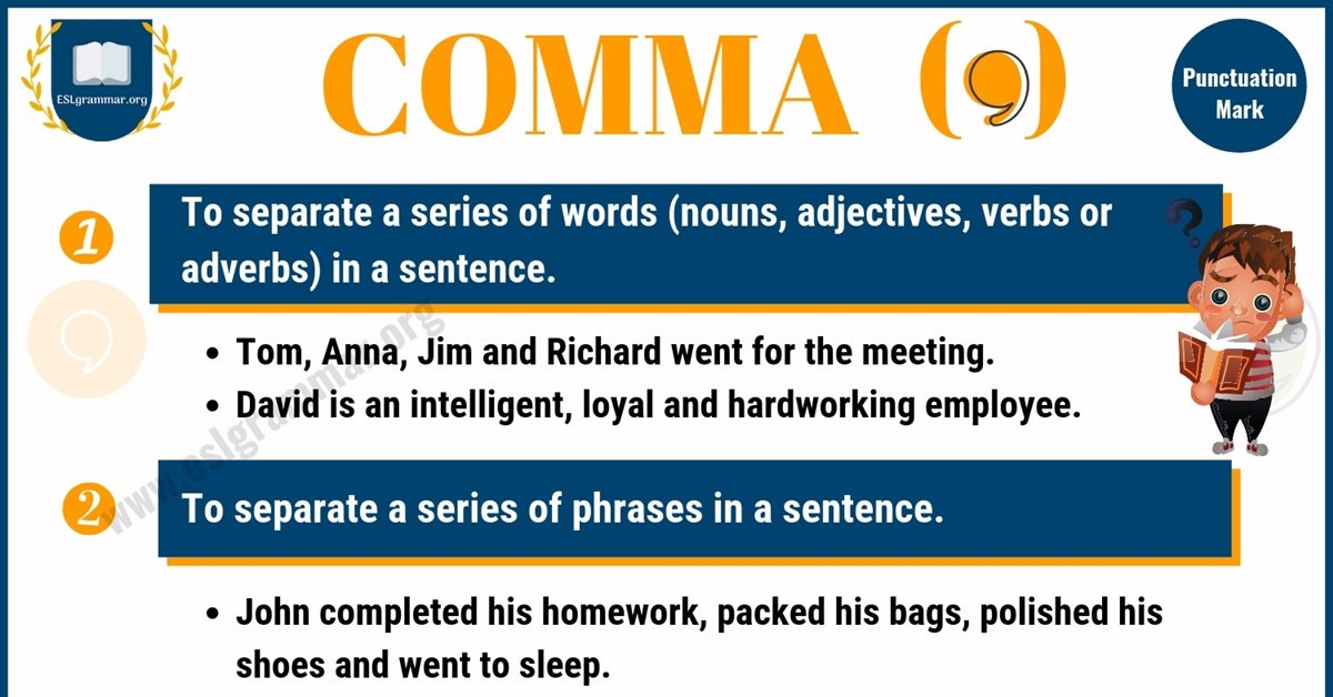 Comma Rules | Comma Definition & Examples for ESL Learners 1