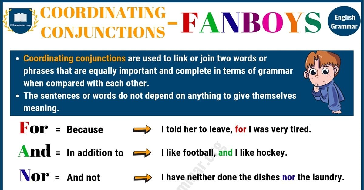 Coordinating Conjunction (FANBOYS): Useful Rules & Examples 7