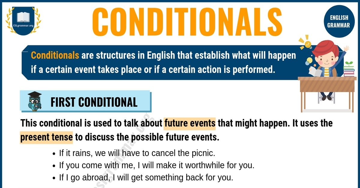 Conditionals: First, Second, and Third Conditional in English 9