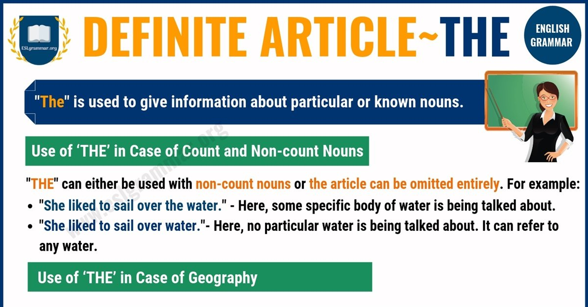 Definite Article - THE | Definition, Useful Rules & Examples 1