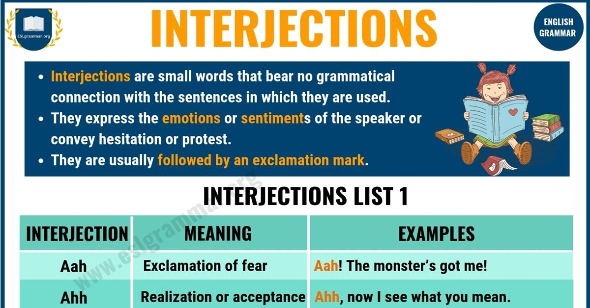 Interjection | Definition, List of Interjections & Examples 1