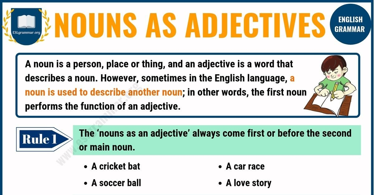 Nouns as Adjectives | When Nouns Act Like Adjectives 10