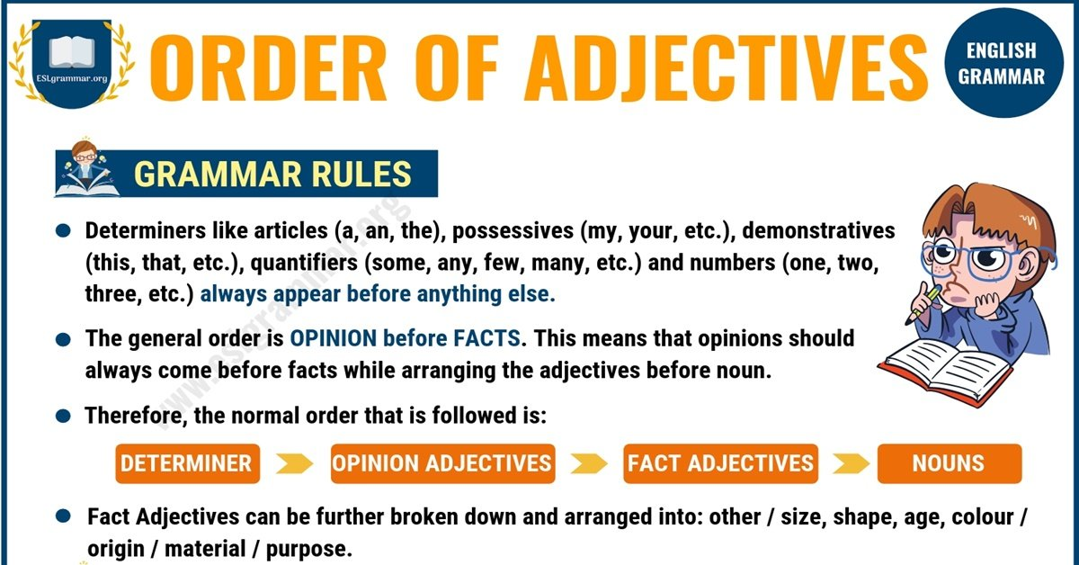 Order of Adjectives: Useful Rules & Examples 1