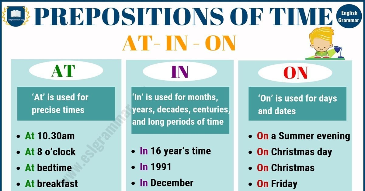 Preposition of Time | 50+ Useful Examples of Prepositions of Time AT,IN,ON 1