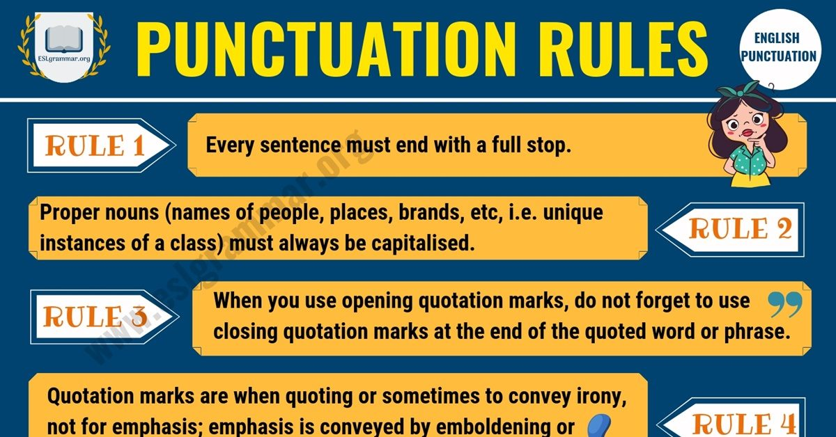 Punctuation Rules: 9 Important Rules You Must Know 1