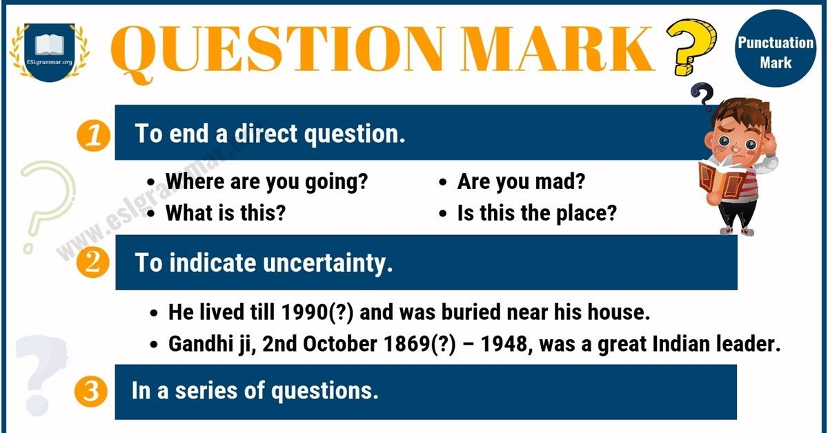 Question Mark (?) Definition, Useful Rules & Examples with Image 7