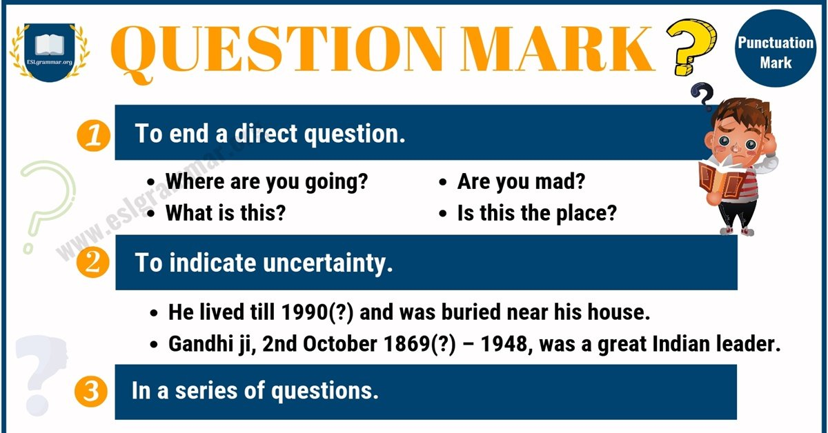 Question Mark (?) Definition, Useful Rules & Examples with Image 1