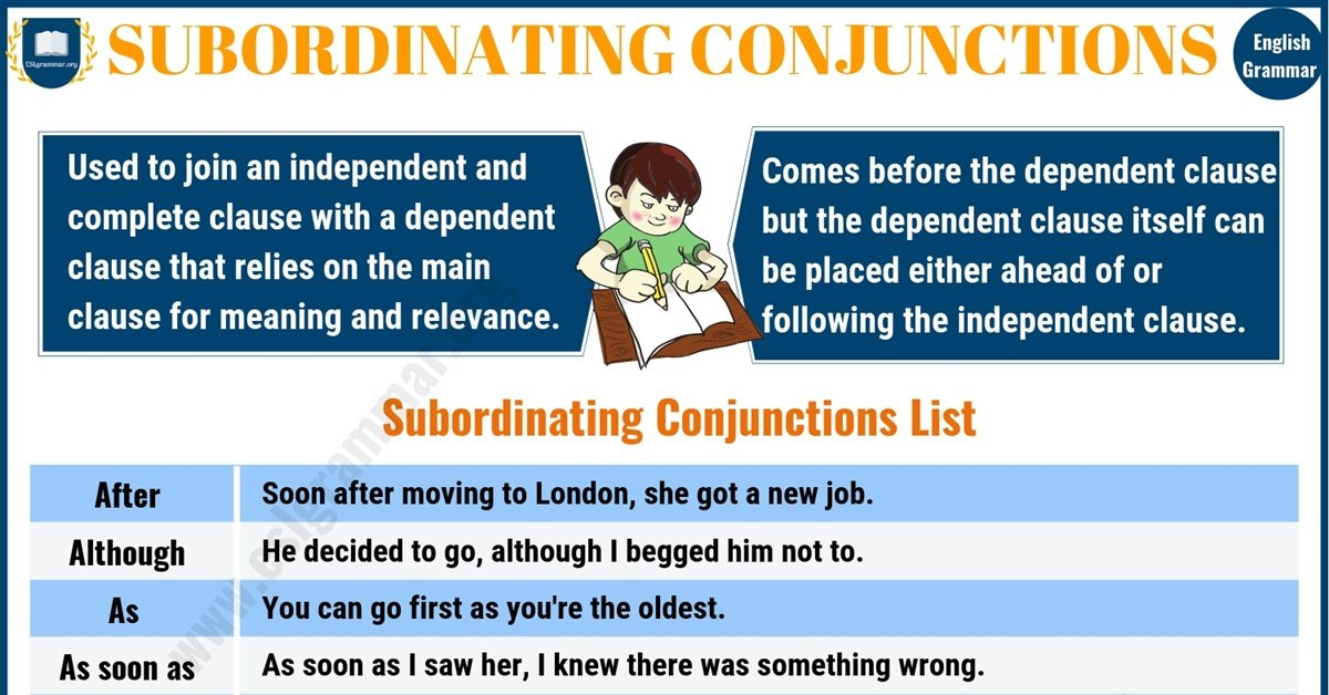 Subordinating Conjunctions: List, Rules & Useful Examples 6