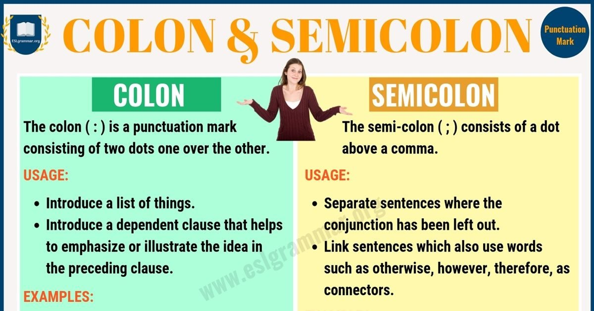 Colon vs Semicolon: When to Use a Semicolon, a Colon 1