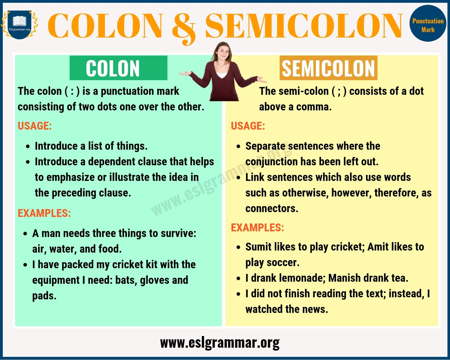 Colon vs Semicolon: When to Use a Semicolon vs a Colon