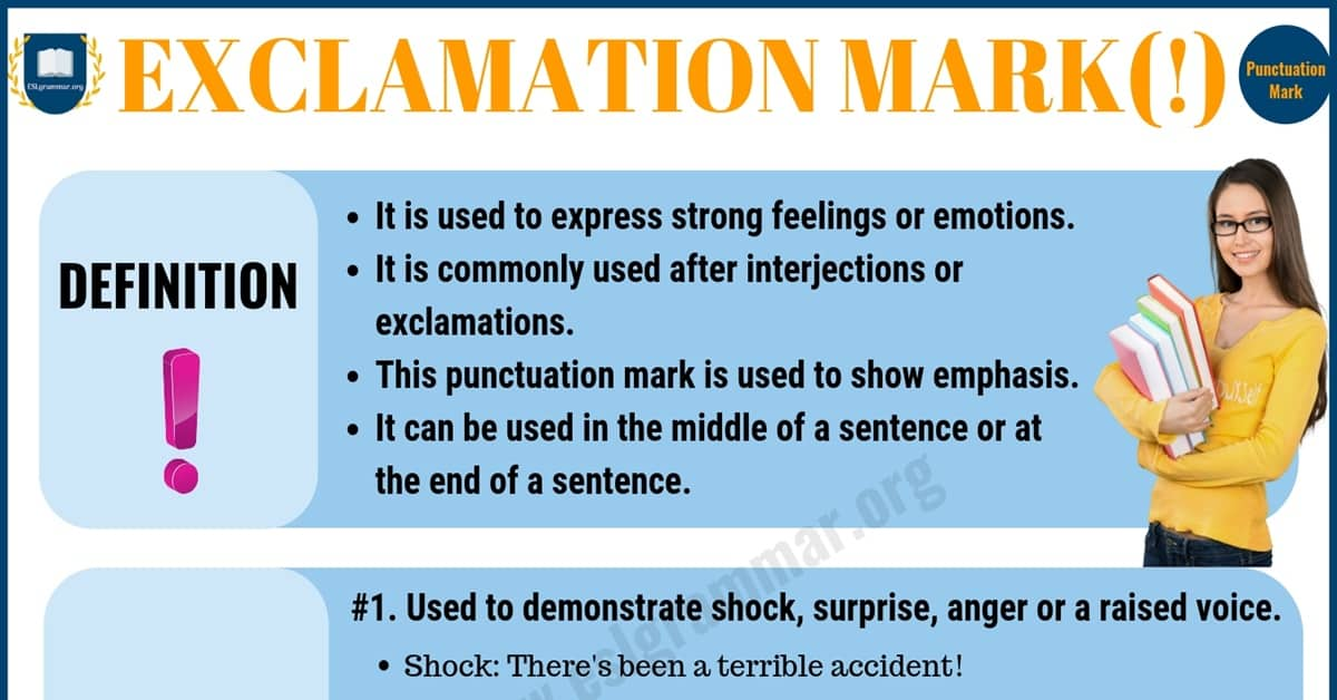 Exclamation Mark (!) Exclamation Point: Rules & Useful Examples 1