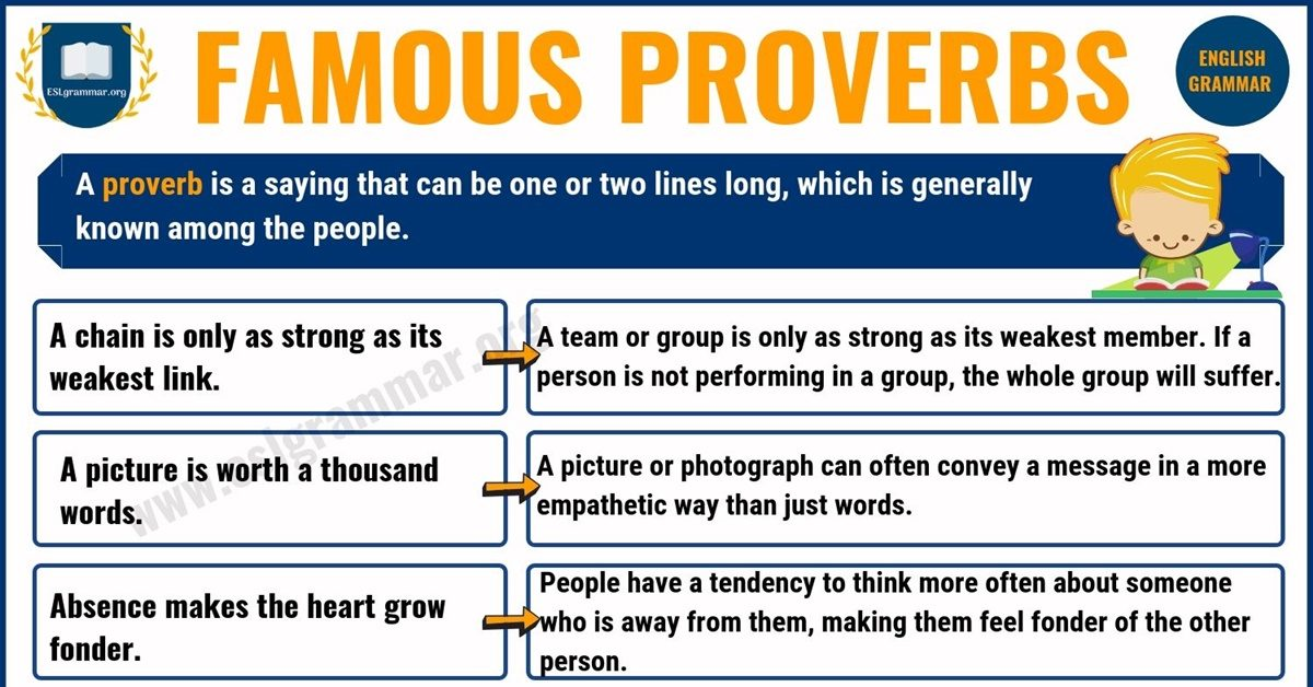 Proverbs: List of 25 Famous Proverbs with Useful Meaning 1