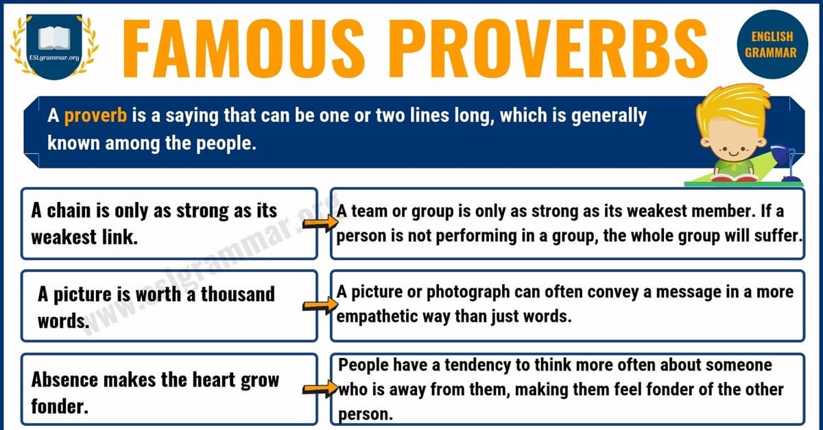 Proverbs: List of 25 Famous Proverbs with Useful Meaning 4
