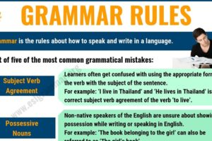 Grammar Rules: 5 Important Rules of Grammar for ESL Learners 3