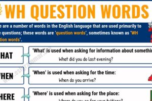 WH Questions Words: 8 Basic Question Words with Definition & Useful Examples 6