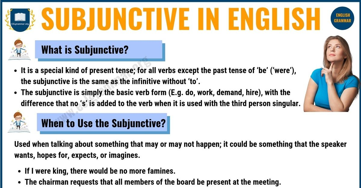 Subjunctive: Definition, Useful Usage and Examples in English 1