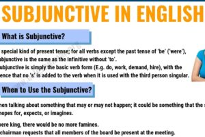 Subjunctive: Definition, Useful Usage and Examples in English 6