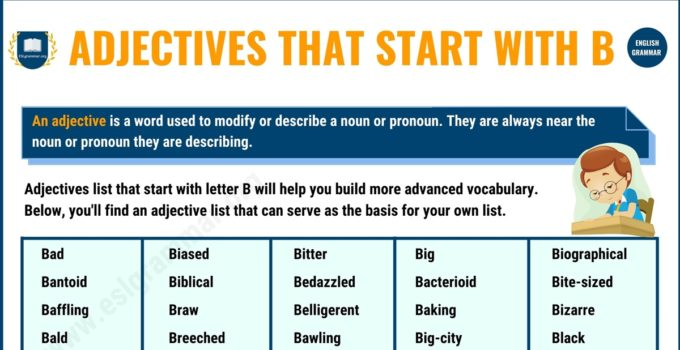 300 Useful Adjectives That Start with B in English 6
