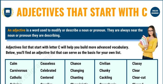 300+ Interesting Adjectives That Start with C in English 1