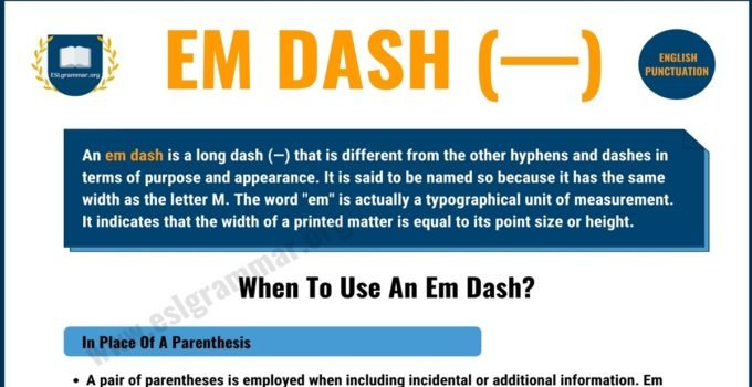 What is An Em Dash & When to Use It? | Punctuation Marks 2