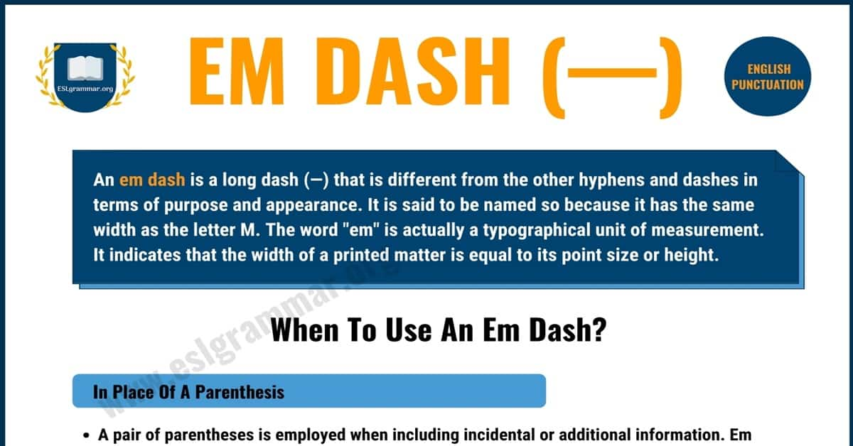 What is An Em Dash & When to Use It? | Punctuation Marks 1
