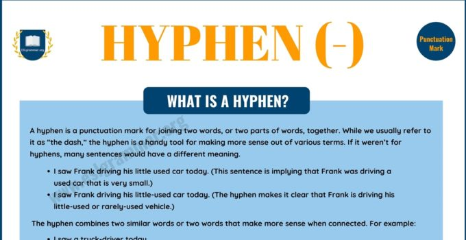 The Hyphen (-): Definition, Usage with Useful Examples 4