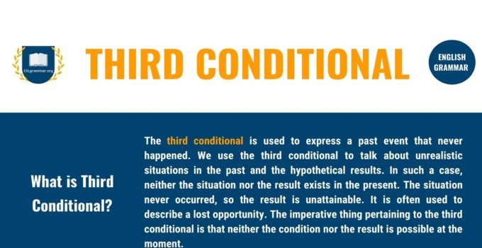 Third Conditional: Definition, Useful Rules with Examples 1