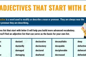 750+ Adjectives that Start with D with Useful Examples 2