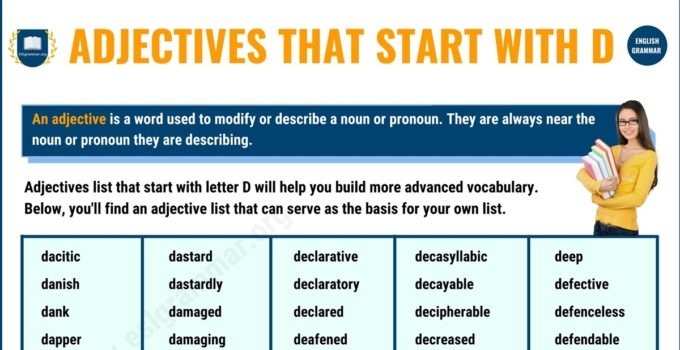750+ Adjectives that Start with D with Useful Examples 1