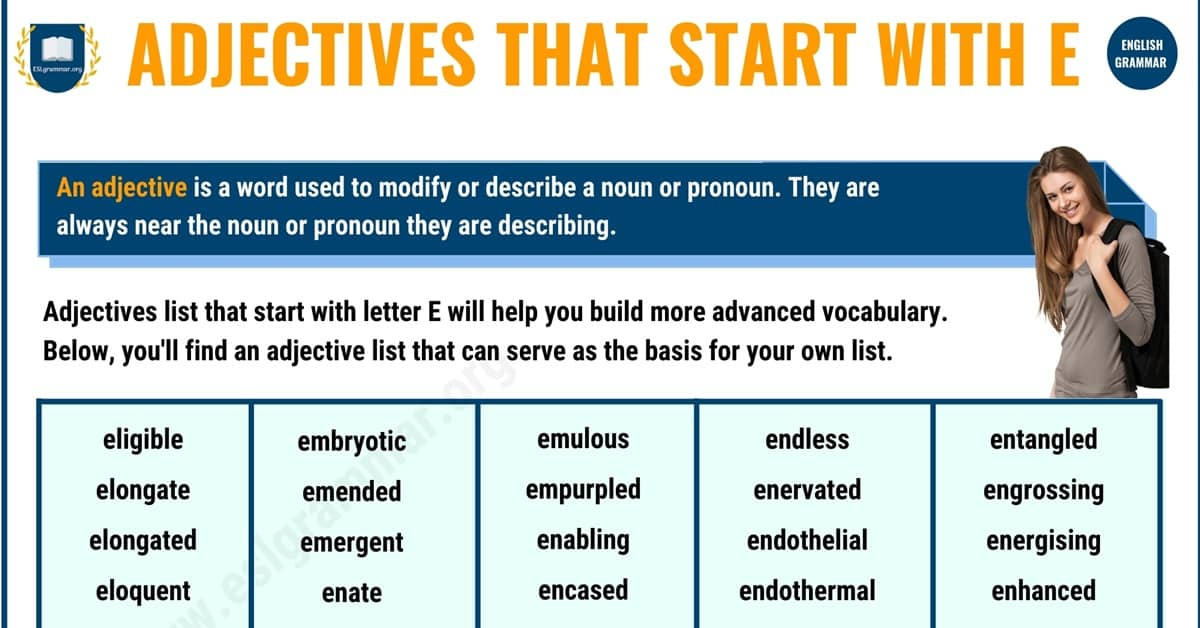 Remarkable List of Adjectives that Start with E in English 1