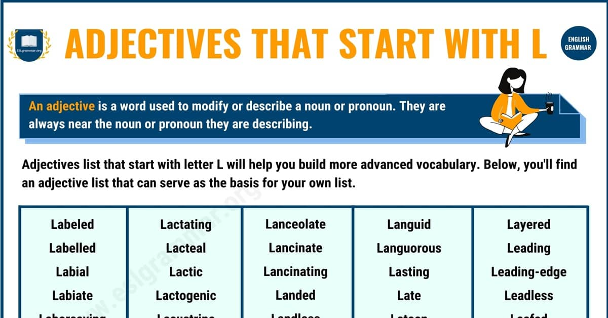450+ Adjectives that Start with L with Useful Examples 1