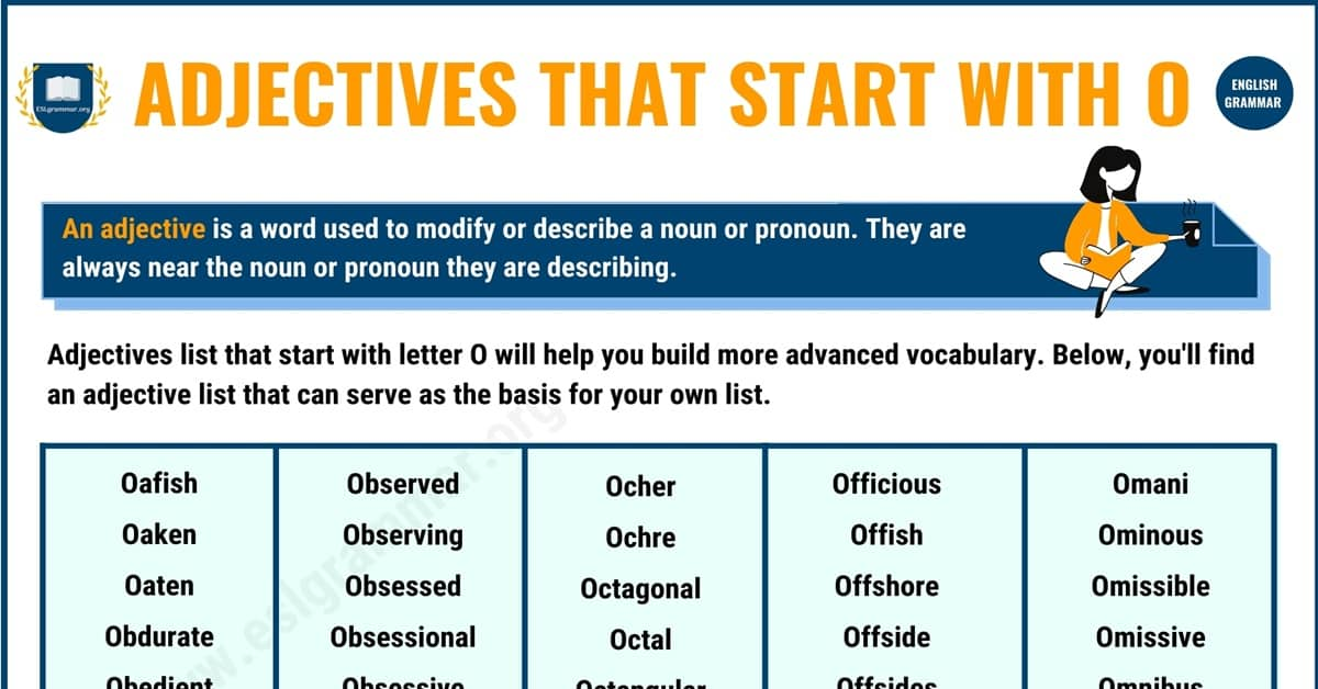 400+ Adjectives that Start with O with Useful Examples 1