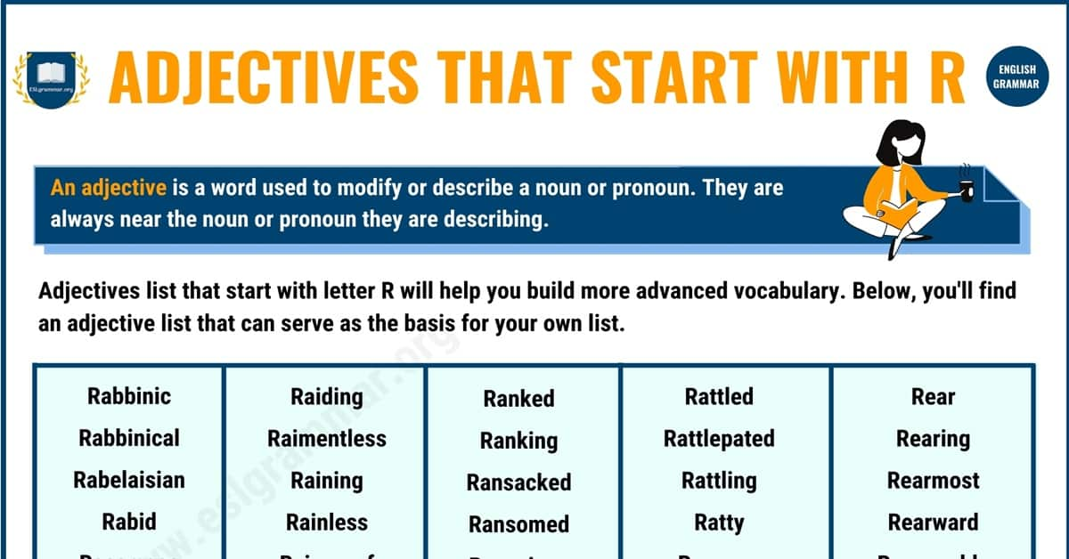 700+ Remarkable Adjectives that Start with R in English 1