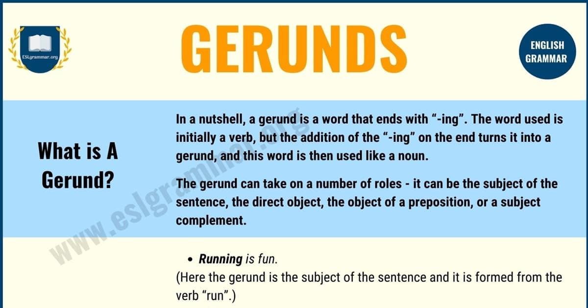 Gerunds: Gerund Definition with Useful Examples | Gerund Phrase 1